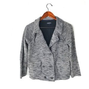 Lucky Brand tweed blazer jacket double breasted S